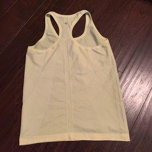 Lululemon racerback neon yellow tank top